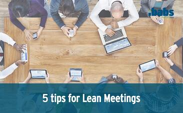 5 tips for lean meetings cover